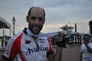 Lykkelig syklist